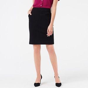 J. Crew Black Ponte Pencil Skirt (D3)